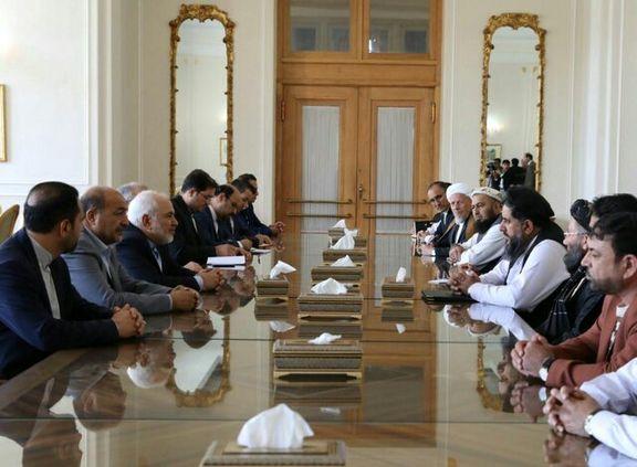 ظریف با مقام بلندپایه افغانستان دیدار کرد