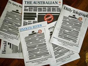 رسانههای استرالیایی در ارعتاض به سانسور دولتی امروز تماما سیاه شدند