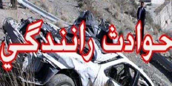 برخورد خودروی پراید با خاور  4 نفر را به کام مرگ کشاند