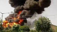 آتشسوزی پارکینگ شهرک دولت آباد کرمانشاه مهار شد