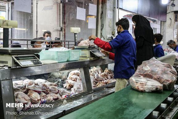 قیمت مرغ در بازار با افزایش عرضه کاهش یافت