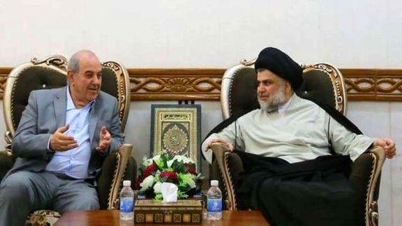 صدر و علاوی برای تشکیل دولت در عراق با یکدیگر گفتگو کردند