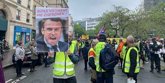 چهل و پنجمین هفته اعتراضات جلیقه زردها در فرانسه + فیلم