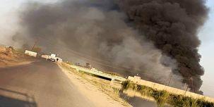 یک پایگاه هوایی عراق آتش گرفت