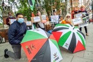 تظاهرات در انگلیس علیه طرح الحاق کرانه باختری