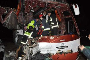 واژگونی اتوبوس چابهار - زاهدان و کشته شدن 6 تن تکذیب شد