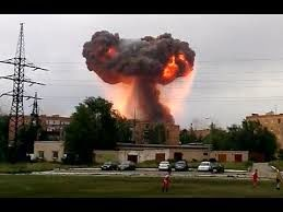 انفجار زاغه مهمات در روسیه 100 هزار نفر را آواره کرد + فیلم