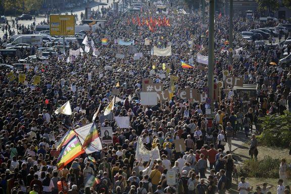 صدها هزار نفر علیه فاشیست ها در برلین تظاهرات کردند
