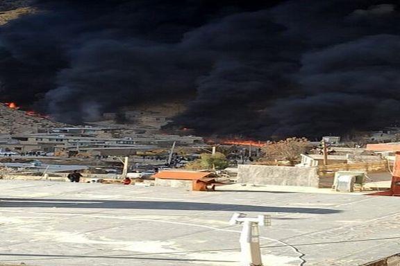دلیل آتش سوزی خط لوله مارون- اصفهان کشف شد/رانش زمین باعث حادثه خط لوله مارون شد