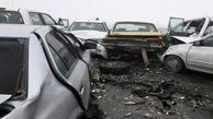 تصادف ۲۲ خودرو در اتوبان قم به تهران/  ۱۴ نفر مصدوم شدند