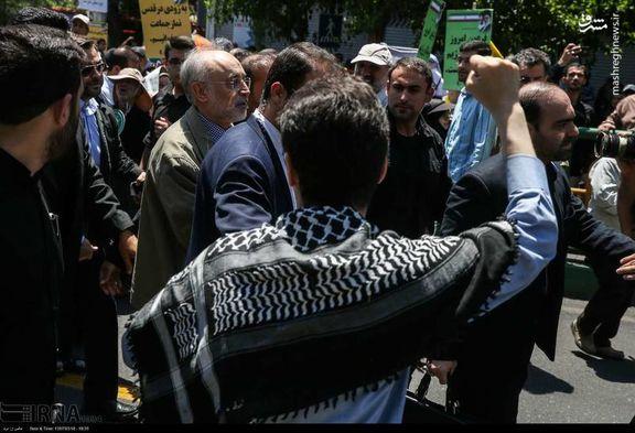 حسام الدین آشنا به شعارها علیه علی اکبر صالحی در راهپیمایی روز قدس واکنش نشان داد
