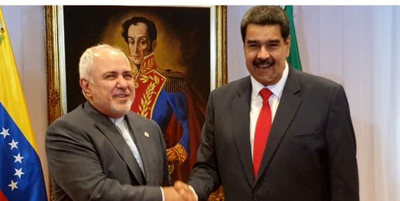 محمد جواد ظریف با نیکلاس مادورو دیدار کرد