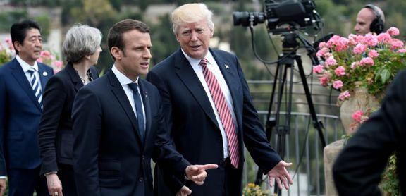 دونالد ترامپ و امانوئل ماکرون در حاشیه نشست «جی 7» درباره ایران با یکدیگر گفتگو کردند