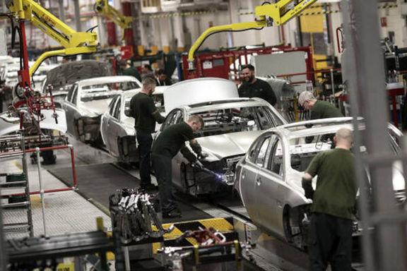 تولید خودرو در انگلیس به زیر 5 درصد رسید