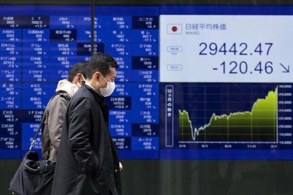 اُفت سهام آسیایی در مقابل نوسان شدید بازار سهام امریکا
