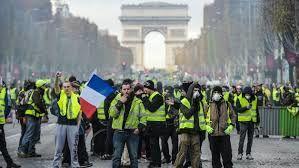 نهمین هفته اعتراضات سراسری جلیقه زرد ها در فرانسه
