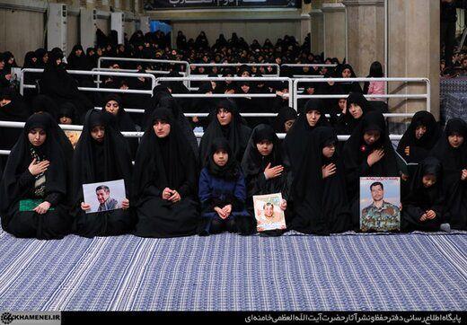 حضور دختر سردار شهید سلیمانی در محضر رهبر انقلاب+ عکس