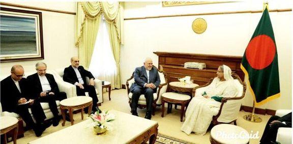 وزیر خارجه ایران با نخست وزیر بنگلادش دیدار کرد
