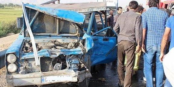 5 کشته در پی برخورد تانکر حمل سوخت با وانت نیسان