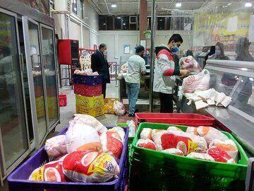عرضه روزانه 650 تن مرغ گرم در میادین ترهبار با نرخ 18 هزار و 500 تومان