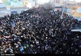 تصاویر هوایی از مراسم تشییع میلیونی پیکر شهید حاج قاسم سلیمانی  در کرمان + فیلم