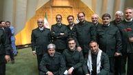جمعی از نمایندگان مجلس با لباس سپاه در صحن علنی مجلس حضور یافتند
