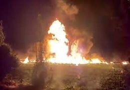 لحظه انفجار لوله نفت در مکزیک